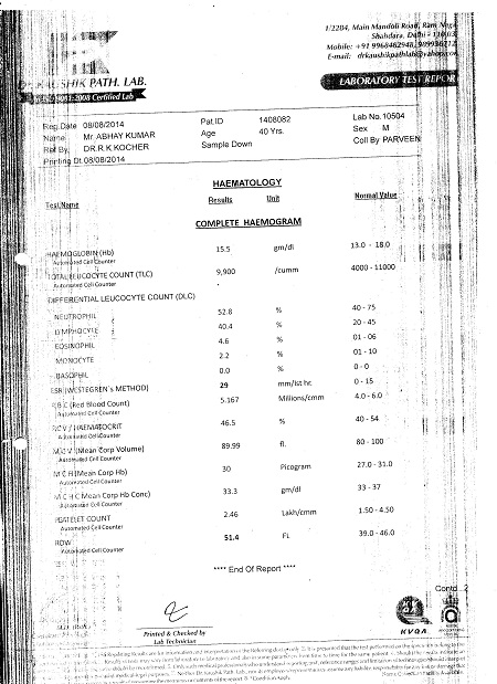 ABHAY-KUMAR-KAURA-40yrs-Echotexture-of-liver-parenchyma-increased-Fatty-Infiltration-In-Liver-patient-treatment-report-9