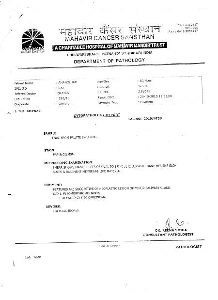 Anandu-rai-Cancer-Chronicle-Disease-Hazipur-Mouth-Cancer-Neck-Cancer-Oral-Cancer-Tongue-Cancer-patient-treatment-report-5