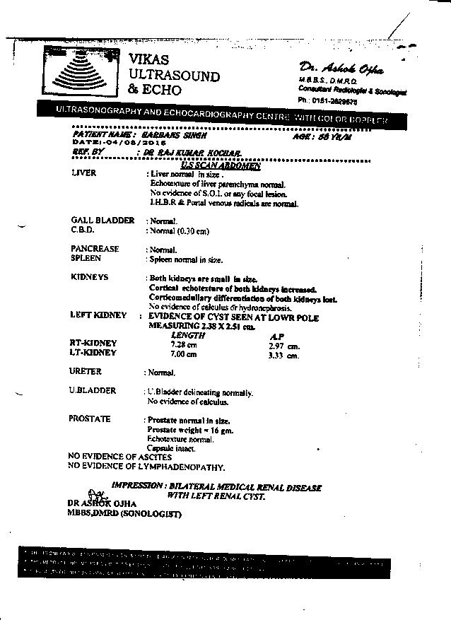 HARBANS-SINGH-Kidney-Failure-patient-treatment-report-1