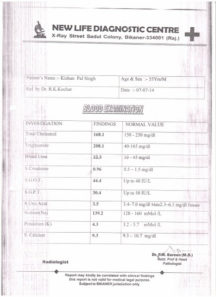 KISHAN-PAL-SINGH-55-Years-B/L-Renal-Small-cortical-cyst-treatment-report-3