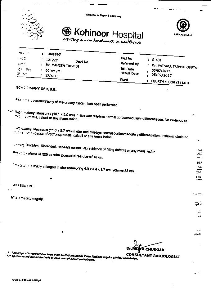 Mahesh-Trivedi-61Yrs-Urinary-Bladder-Carcinoma-PKD-Patient-Report-22