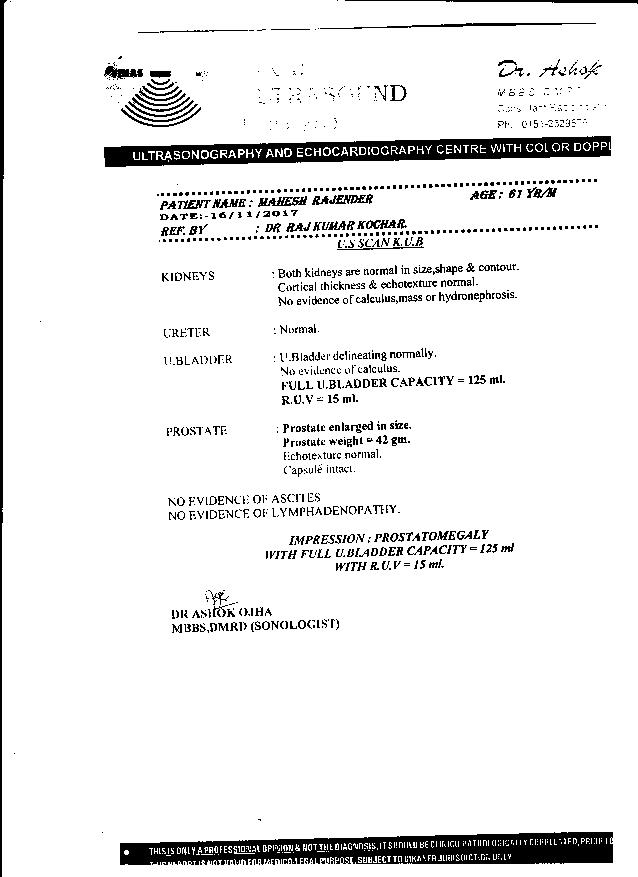 Mahesh-Trivedi-61Yrs-Urinary-Bladder-Carcinoma-PKD-Patient-Report-4