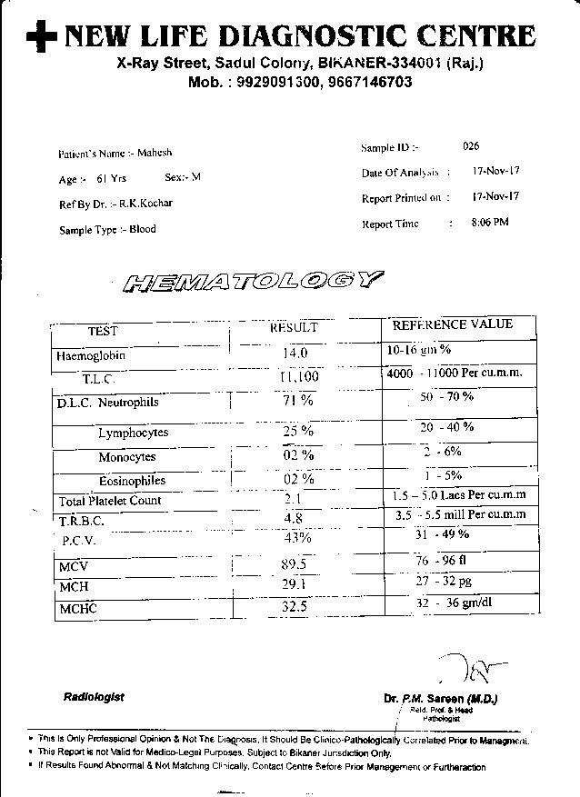 Mahesh-Trivedi-61Yrs-Urinary-Bladder-Carcinoma-PKD-Patient-Report-3