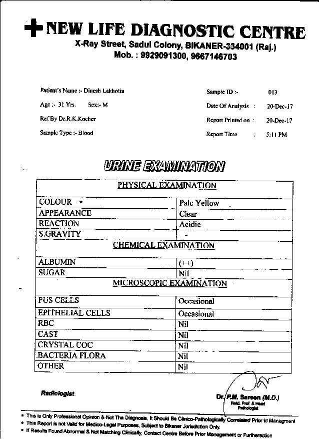 Dinesh-Kumar-Lakhotia-31yrs-CKD-Kidney-failure-treatment-report-9