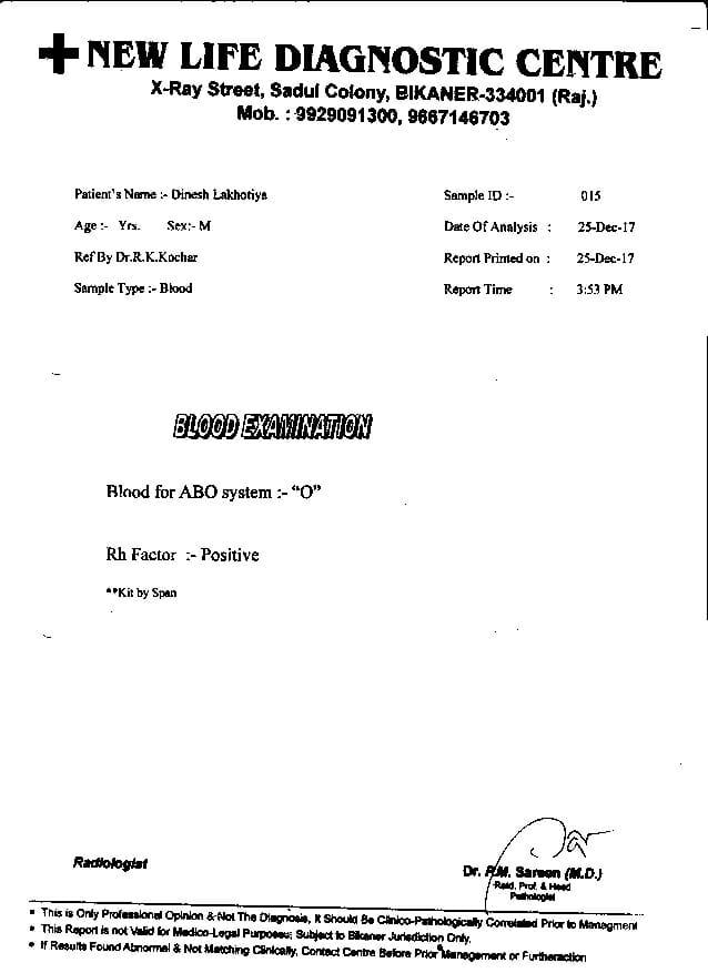 Dinesh-Kumar-Lakhotia-31yrs-CKD-Kidney-failure-treatment-report-5