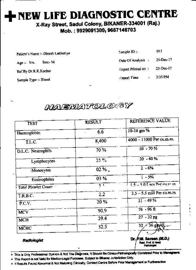 Dinesh-Kumar-Lakhotia-31yrs-CKD-Kidney-failure-treatment-report-4