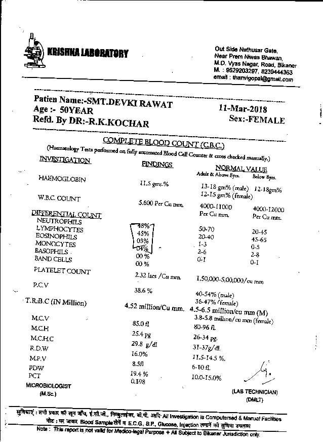 Devki-Rawat-51yrs-Ovarian-cancer-Thyroid-Leucoria-patient-treatment-report-19