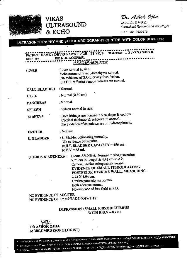 Devki-Rawat-51yrs-Ovarian-cancer-Thyroid-Leucoria-patient-treatment-report-14