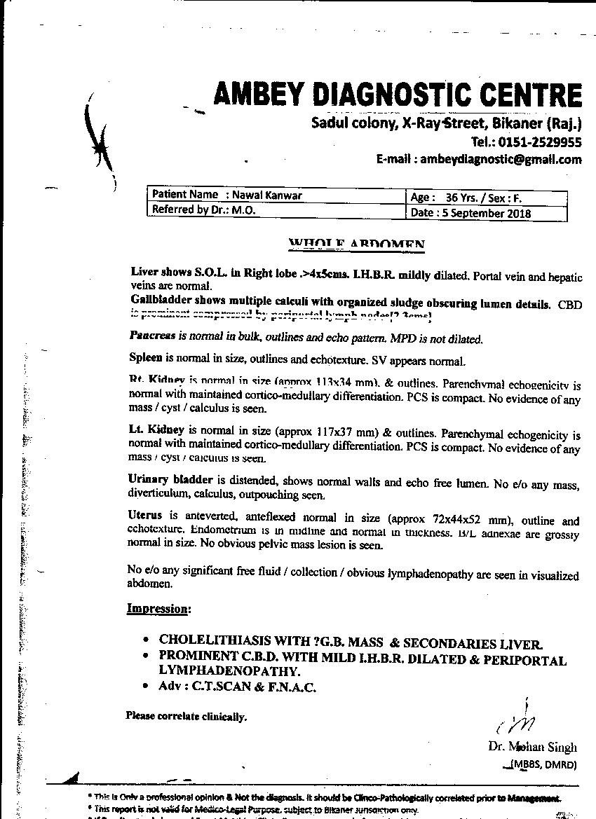 Nawal-Kanwar-36yrs-Gall-bladder-cancer-Treatment-Review-&-Reports-8